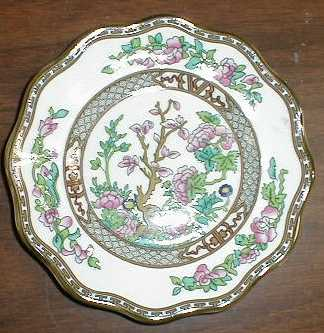 Make sure your browser can show photos and reload this page to see Coalport China Indian Tree - Multicolor, Scalloped, Bone  Bread and butter plate traditional