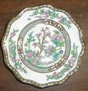 [mfrclean] Indian Tree - Multicolor, Scalloped, Bone  - [mfrsuffix] Bread and butter plate