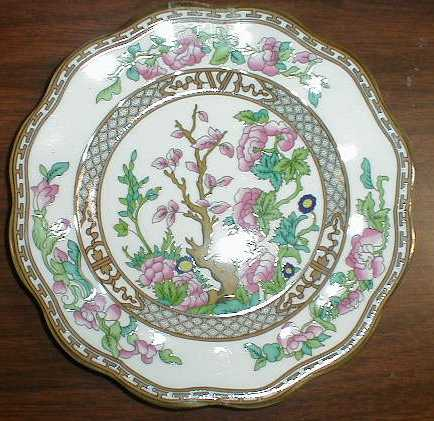 Make sure your browser can show photos and reload this page to see Coalport China Indian Tree - Multicolor, Scalloped, Bone  Salad plate traditional