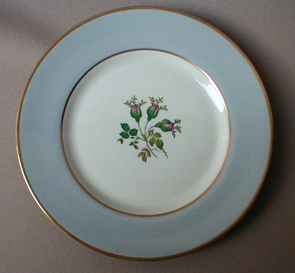 Make sure your browser can show photos and reload this page to see Flintridge China San Marino - Grey, Gold Trim Bread and butter plate