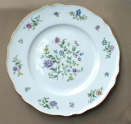 Make sure your browser can show photos and reload this page to see Franconia - Krautheim China Millefleurs Dinner plate 10 7/8