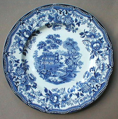 Make sure your browser can show photos and reload this page to see Royal Staffordshire Pottery Tonquin - Blue Bread and butter plate 6 3/8