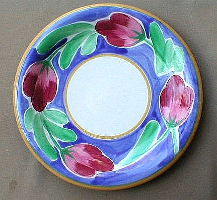 Make sure your browser can show photos and reload this page to see Epoch Dinnerware Italian Garden E901 Chop/round platter 12