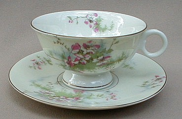 Make sure your browser can show photos and reload this page to see Haviland China Apple Blossom Cup and saucer set