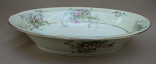 Make sure your browser can show photos and reload this page to see Haviland China Apple Blossom Oval vegetable