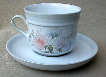 Make sure your browser can show photos and reload this page to see Denby - Langley China Dauphine Cup and saucer set