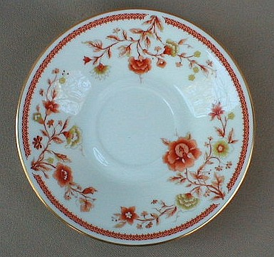 Make sure your browser can show photos and reload this page to see Oxford (Div Of Lenox) China Lotus Garden Saucer only