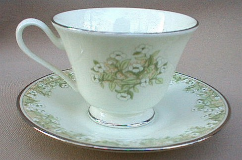 Make sure your browser can show photos and reload this page to see Oxford (Div Of Lenox) China Trellis Cup and saucer set