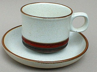 Make sure your browser can show photos and reload this page to see Denby - Langley China Potter's Wheel - Rust Cup and saucer set 2 5/8