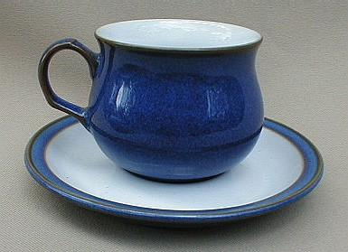 Make sure your browser can show photos and reload this page to see Denby - Langley China Imperial Blue Cup and saucer set 2 3/4