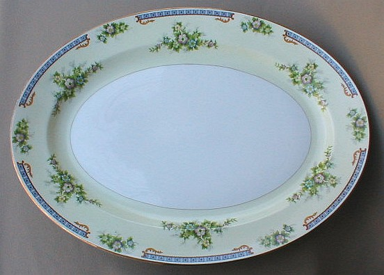 Make sure your browser can show photos and reload this page to see Meito (F & B Japan) China Cecil Platter, large 16