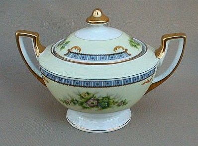 Make sure your browser can show photos and reload this page to see Meito (F & B Japan) China Cecil Sugar bowl with lid