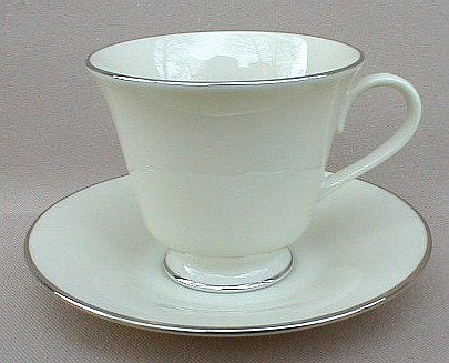 Make sure your browser can show photos and reload this page to see Lenox China Maywood Cup and saucer set (tall)