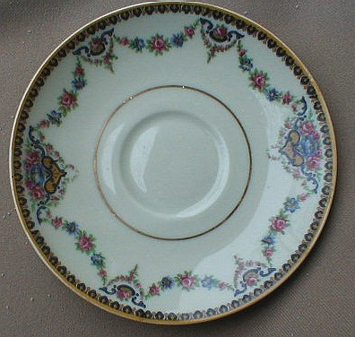 Make sure your browser can show photos and reload this page to see Haviland China Dora Saucer only 5 5/8