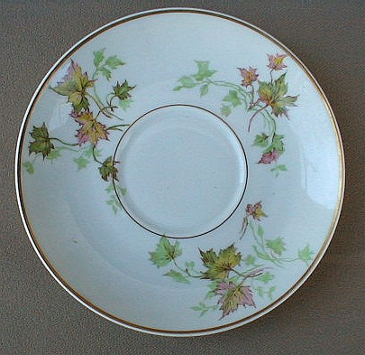Make sure your browser can show photos and reload this page to see Haviland China Autumn Leaf Saucer only gold trim