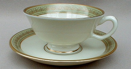 Make sure your browser can show photos and reload this page to see Lenox China Greenfield  Cup and saucer set