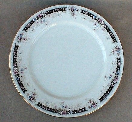 Make sure your browser can show photos and reload this page to see Gorham China Nocturne Dinner plate 10 1/2