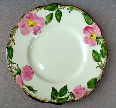Make sure your browser can show photos and reload this page to see Franciscan China Desert Rose - USA  Bread and butter plate