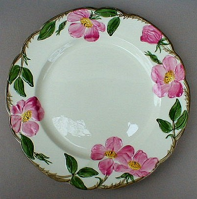 Make sure your browser can show photos and reload this page to see Franciscan China Desert Rose - USA  Dinner plate 10 1/2