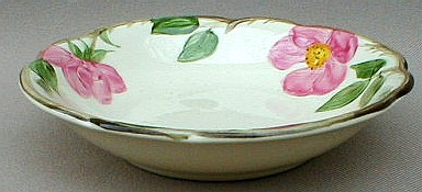 Make sure your browser can show photos and reload this page to see Franciscan China Desert Rose - USA  Fruit/dessert bowl 5 1/4