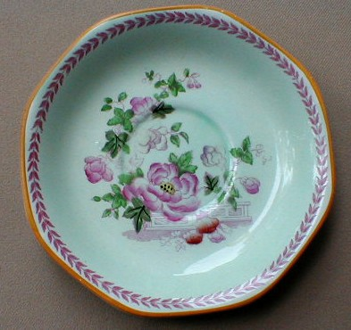 Make sure your browser can show photos and reload this page to see Adams China Metz 1828 Saucer only 5 3/4