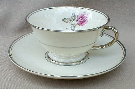 Make sure your browser can show photos and reload this page to see Franciscan China Huntington Rose  Cup and saucer set