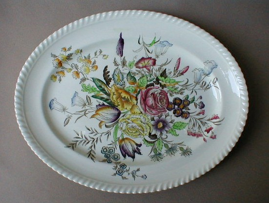 Make sure your browser can show photos and reload this page to see Johnson Brothers Dinnerware  Garden Bouquet Platter, small 12 1/4Ó