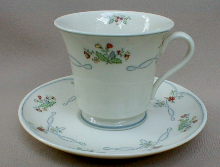 Make sure your browser can show photos and reload this page to see Gorham China Ribbon Edge Cup and saucer set