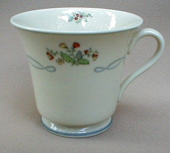 Make sure your browser can show photos and reload this page to see Gorham China Ribbon Edge Cup only (no saucer)