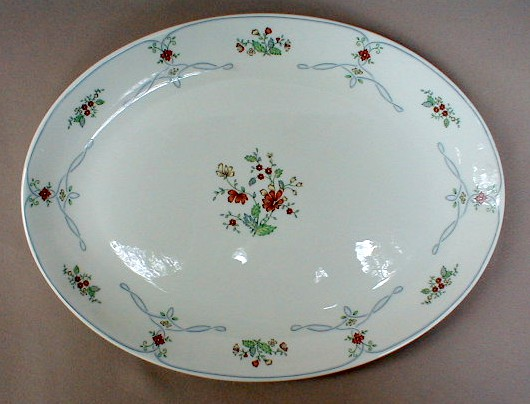 Make sure your browser can show photos and reload this page to see Gorham China Ribbon Edge Platter, medium