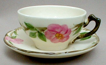 Make sure your browser can show photos and reload this page to see Franciscan China Desert Rose - USA  Cup and saucer set 4
