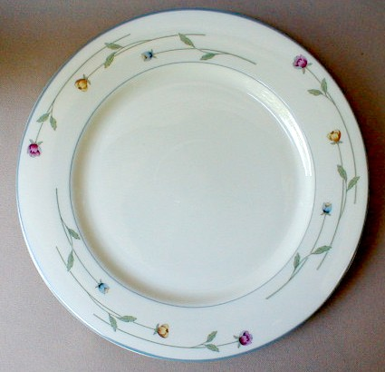 Make sure your browser can show photos and reload this page to see Gorham China Country Flowers Dinner plate 10 5/8