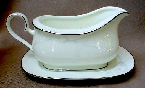 Make sure your browser can show photos and reload this page to see Noritake China Wind Blossom 4719 Gravy -separate stand