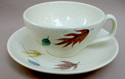 Make sure your browser can show photos and reload this page to see Franciscan China Autumn  Cup and saucer set