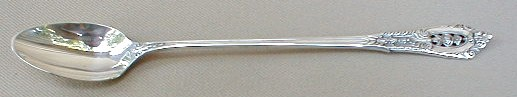 Make sure your browser can show photos and reload this page to see Wallace Silver Rose Point 1934 Iced tea spoon