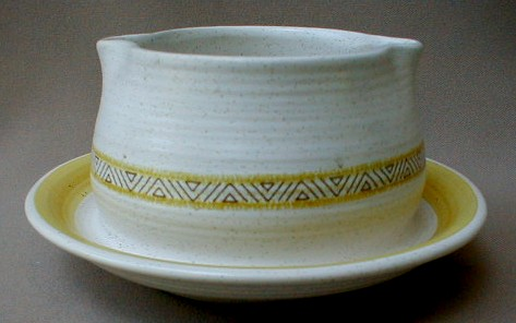 Make sure your browser can show photos and reload this page to see Franciscan China Hacienda - Gold  Gravy-attached stand
