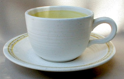 Make sure your browser can show photos and reload this page to see Franciscan China Hacienda - Gold  Cup and saucer set 2 1/2