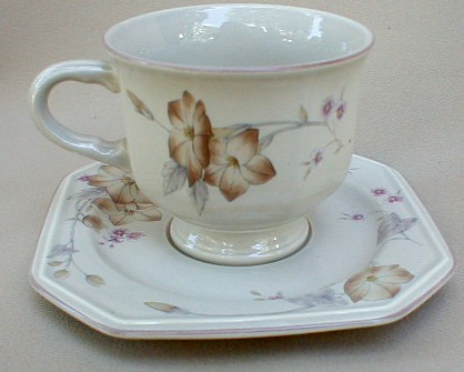 Make sure your browser can show photos and reload this page to see Mikasa China Woodland F3752 Cup and saucer set 3