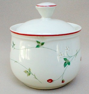 Make sure your browser can show photos and reload this page to see Epoch Dinnerware Strawberry Time E744 Sugar bowl with lid