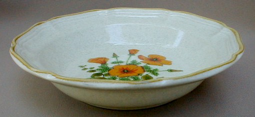 Make sure your browser can show photos and reload this page to see Mikasa China Petunias EC401 Soup bowl, rim shape 8 3/8