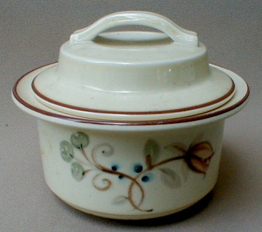 Make sure your browser can show photos and reload this page to see Noritake China Fallriver B331/W15 Sugar bowl with lid
