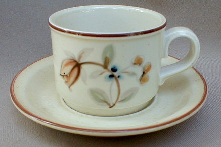Make sure your browser can show photos and reload this page to see Noritake China Fallriver B331/W15 Cup and saucer set 3 1/4
