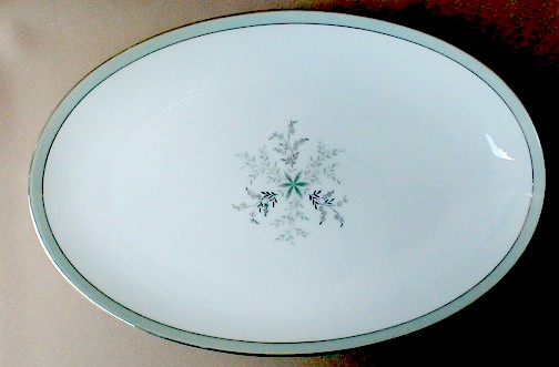 Make sure your browser can show photos and reload this page to see Noritake China Lucille 5813 Platter, medium 14 1/4Ó