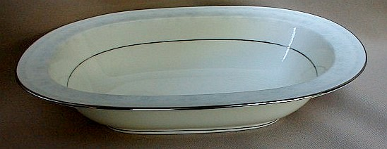 Make sure your browser can show photos and reload this page to see Noritake China Dreamspun 4721 Oval vegetable 10 1/2