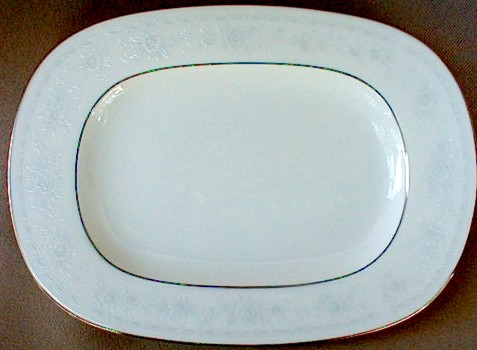 Make sure your browser can show photos and reload this page to see Noritake China Dreamspun 4721 Relish/Butter tray 8