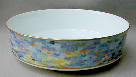 Make sure your browser can show photos and reload this page to see Mikasa China Montmartre AD002 Round vegetable  9 1/8