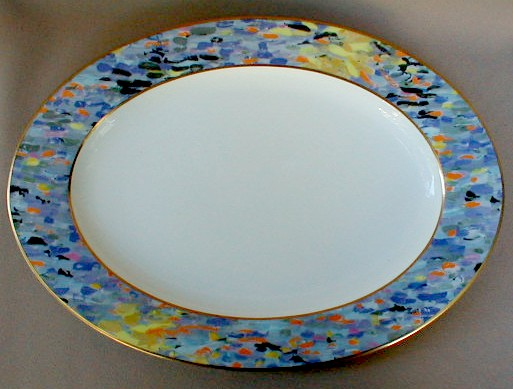 Make sure your browser can show photos and reload this page to see Mikasa China Montmartre AD002 Platter, medium 15