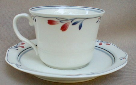 Make sure your browser can show photos and reload this page to see Noritake China Copper Bud 7911 Cup and saucer set 2 3/4