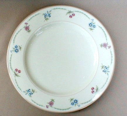 Make sure your browser can show photos and reload this page to see Gorham China May Meadow Dinner plate