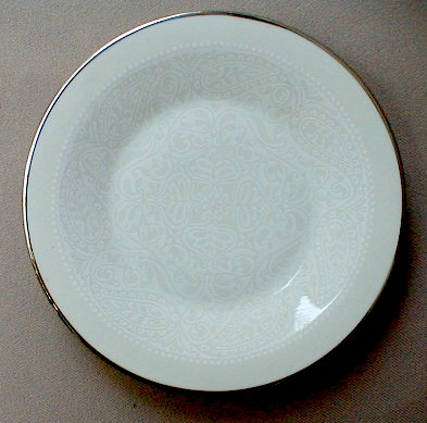 Make sure your browser can show photos and reload this page to see Franciscan China Applique Bread and butter plate 6 1/4